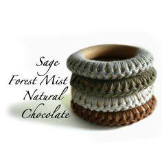 Crochet around half of teething ring