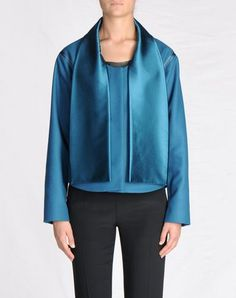 Martin Margiela jacket with detachable scarf....and what a color!