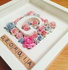 Family Scrabble Frame Gift Baby Wedding Christmas New Home Valentines in Crafts, Hand-Crafted Items | eBay