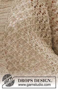 Melanie / Drops - Free Knitting Patterns By Drops Design - Diy Crafts - hadido Crochet Stitches Patterns, Lace Patterns, Knitting Stitches, Knitting Patterns Free, Free Knitting, Stitch Patterns, Free Pattern, Drops Design, Drops Patterns