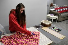 Homebound But Not Helpless: Local Crafters Sew Face Masks To Support Health Care Workers | WAMU National Movement, In Harm's Way, Care Worker, Sewing Studio, Health Care, Face Masks, Inspired, Fabric, Crafts