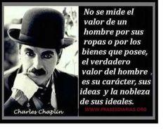 Frases célebres. Charles Chaplin.