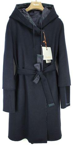 S Max Mara ADouble Virgin Wool / Angora Reversible Hand Stitched Coat Msrp $1895 #SMaxMara #AdoubleReversibleCoat