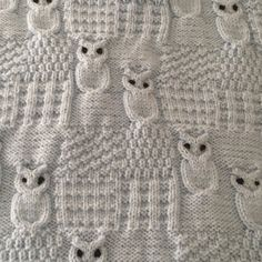 Wise Owl Blanket for Car-seat, Stroller and Pram Knitting pattern by Threads and. Wise Owl Blanket for Car-seat, Stroller and Pram Knitting pattern by Threads and Yarns of Pleasure Owl Patterns, Baby Knitting Patterns, Knitting Stitches, Stitch Patterns, Crochet Patterns, Free Knitting, Diy Crafts Knitting, Knitting Projects, Owl Blanket