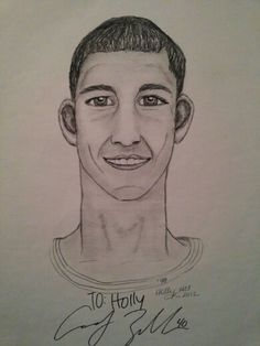 Cody Zeller signed art print 18x24 by Holly Hill