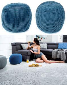 Pletené taburetky tmavo modrej farby Chair, Furniture, Home Decor, Decoration Home, Room Decor, Home Furnishings, Stool, Home Interior Design, Chairs