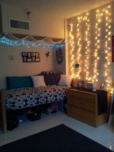 You can create a light wall to separate your college dorm room