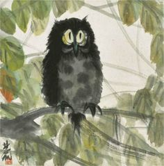 'Owl' by Lin Fengmian
