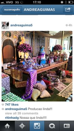 Inspiracao festa Aladdin
