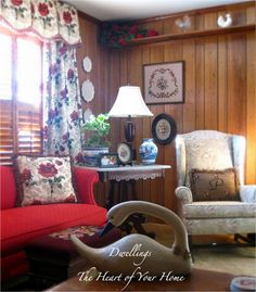 DWELLINGS-The Heart of Your Home: NEEDLEPOINT AND A PEEK!