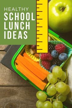 The best healthy school lunch ideas. #schoollunch #lunch #school #healthy #food