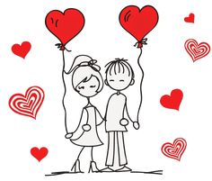 drawing drawing of love Free idea Cute Drawings Of Love, Art Drawings For Kids, Couple Drawings, Love Cartoon Couple, Cute Couple Art, Cute Couple Shirts, Cute Love Images, Love Doodles, Funny Anniversary Cards