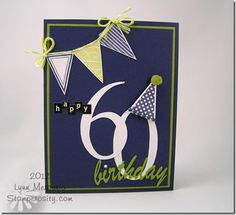 CTD217 - a birthday card for my husband's friend using die cuts from my Cameo and images from Waltzingmouse Stamps!