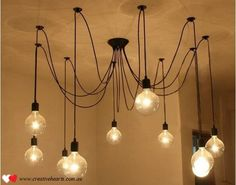 Hanging bulb pendant light. LOVE this!