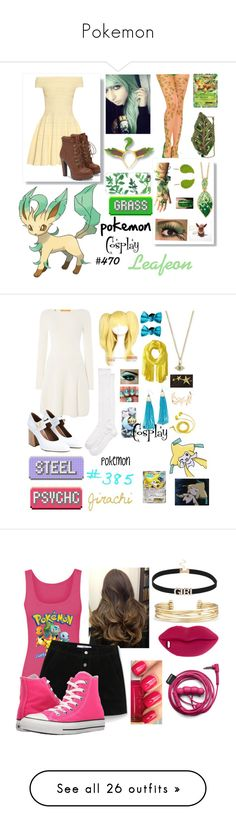"""Pokemon"" by itslilyiguess ❤ liked on Polyvore featuring cutekawaii, Palm Beach Jewelry, Casetify, Mary Frances Accessories, Alexander McQueen, JustFab, Kate Spade, Coshome, Gina Made It and Adia Kibur"