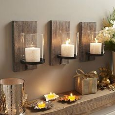 Wonderful Rustic Romantic Candles