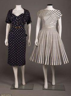 Fashion Dress With Hijab .Fashion Dress With Hijab Vintage 1950s Dresses, Vintage Outfits, Vintage Clothing, Sugar Baby, 1950s Fashion, Vintage Fashion, Dot Dress, Dress Up, Day Dresses