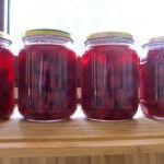 Home-made Romanian cherry juice