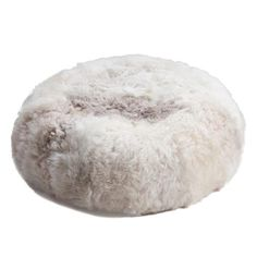 Constructed from icelandic sheepskin; filled with polystyrene beans
