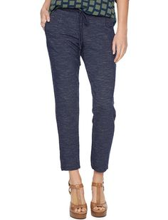 Splendid Official Store, French Terry Trouser Pant, navy, Womens : Bottoms : Pants, SB8183