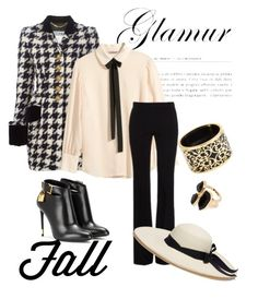 """Fall Glamour"" by chanlee-luv ❤ liked on Polyvore featuring Moschino, Tom Ford, H&M, Alexander McQueen, Sensi Studio, Miriam Salat and River Island"