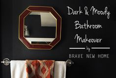 dark and moody bathr