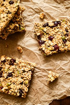 Sweet. Chewy. Spiced. Pumpkin-y. Seeded. Addictive. De.li.cious. These Pumpkin & Cranberry Granola Bars have a whole lot of wonder about them, and I've fallen for them bite after spice-filled b...