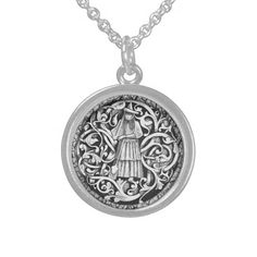 Witches Pendant! Sterling Silver Necklace