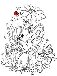 adult coloring cute free | ... coloring pages for kids fairy cute color page – Fairies Coloring