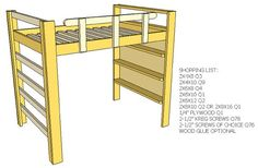 How To Build A Full Size Loft Bed – Jays Custom Creations