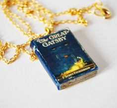 the great gatsby's  mini book necklace. €18.00, via Etsy.