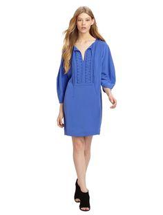 3d5009051a  DVF  Illana  Shift  Dress  blue  casual  simple  wrap  everyday   styledealsdaily