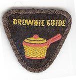 Vintage Brownie Guide badge - Cooking