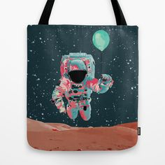Cosmo Astro II Tote Bag by Jacek Muda #tote #bags #totebas #illustration #design #cosmic