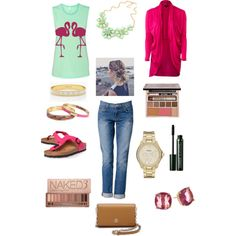 Movie date by kamero88 on Polyvore featuring polyvore, fashion, style, Emu, J Brand, Birkenstock, Tory Burch, FOSSIL, Kate Spade, Vera Bradley, Clinique and Urban Decay