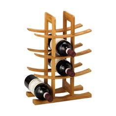Zeller 13580 Wine Shelf Bamboo 29 x 16 x 42 cm Wine Bottle Rack, Wine Glass Rack, Bottle Wall, Bottle Holders, Wine Racks, Wine Shelves, Wine Storage, Wine Cabinets, Budget