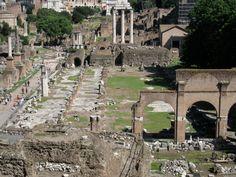 Basílica Iulia: Foi fundada no 179 a.C. por Aemilius Lepidus e Fulvius Nobilior e construída no lugar dunha basílica máis antiga. Os romanos usaban as basílicas para a administración de xustiza, pero tamén como lugar de reunión e negocios, cando o tempo non permitía facelo na praza principal do foro. Situada entre o templo de Antonino e Faustina (dereita) e a Curia (esquerda), podemos observar os restos das columnas.