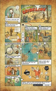 Be part of the art! Infographic-Guideline-Comic by Jan Human Made, via Behance