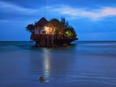 50 Bars to visit around globe. (Business Insider)  The Rock restaurant and bar Zanzibar