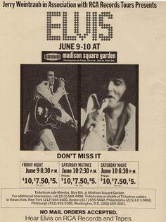 Press - Elvis Presley at Madison Square Garden MSG 1972