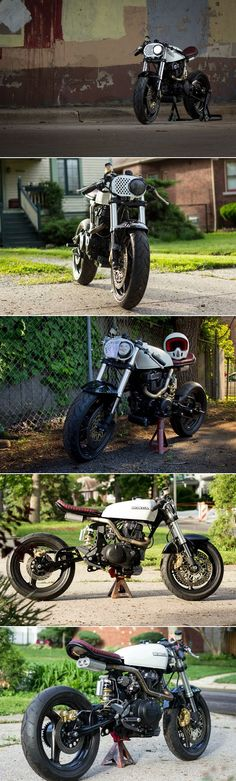 Honda 450 Cafe Racer #motorcycles #caferacer #motos | caferacerpasion.com Love #Racing Check out #RacingFriday with #Rvinyl every #Friday