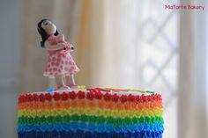 Standing over the rainbow #customizedbirthdaycake #MiaTorteBakery #Hyderabad