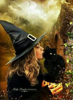 A Witch and her familiar.