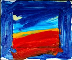 "Howard Hodgkins - use of bold primary colours, abstract representation of landscape. Painting ""outside the lines"" epitome of flawed art - esp. in regards to children. Howard Hodgkin, Digital Museum, Art Courses, Cat Art, Art History, Printmaking, Abstract Art, Abstract Painters, Abstract Expressionism"
