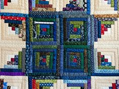 Log Cabin Quilt -- superb carefully made Amish Quilts from Lancaster (hs6961)