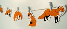 This decorative fox garland | 21 Adorable Fox Products You Need In Your Life