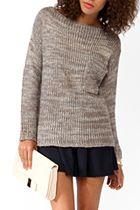 Super Comfy Melange Tunic Sweater! - Forever 21