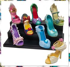 disney princess pumps shoes   Disney Princess High Heel Shoe Ornaments the Latest Disney Collectable