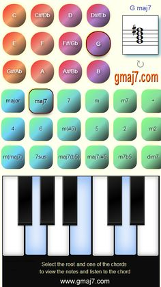 View and listen to chords on the virtual piano keyboard with their notes. All Chords from to to Bb Keyboard, Piano, Bb, Notes, Music, Report Cards, Pianos