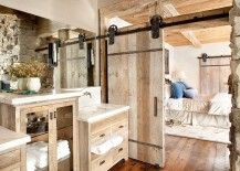 Custom barn door for the relaxed rustic bathroom 217x155 15 Sliding Barn Doors That Bring Rustic Beauty to the Bathroom